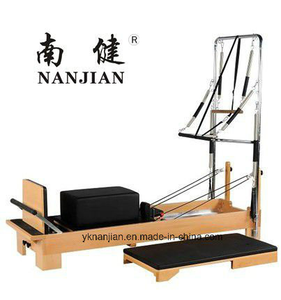 Nanjian High Quality Beech/Maple Wood Pilates Reformer with Half Trapeze