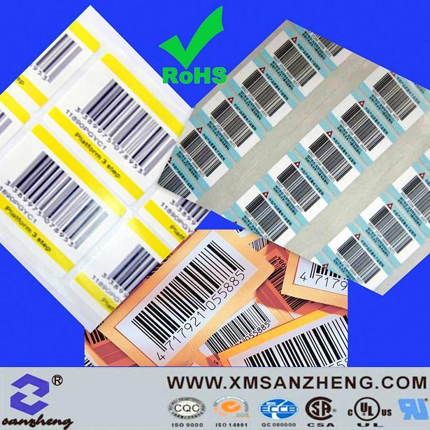 Customized Vinyl Packaging Sticker (SZ3099)