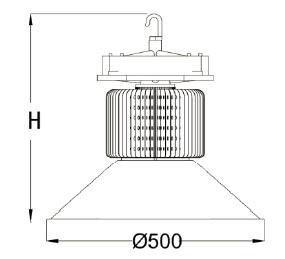 80W-200W High Energy LED Highbay Light for Industrial/Factory/Warehouse Lighting (SLS405)