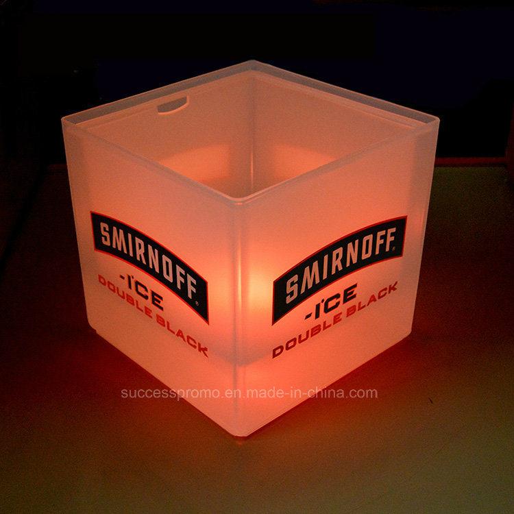 Wholesale 3.5L Plastic LED Ice Bucket with Customized Logo