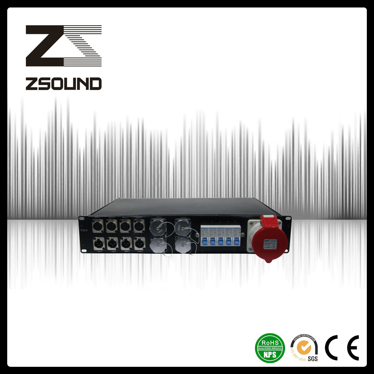 Zsound Tcd-8 Touring Line Array System Power Distribution Box