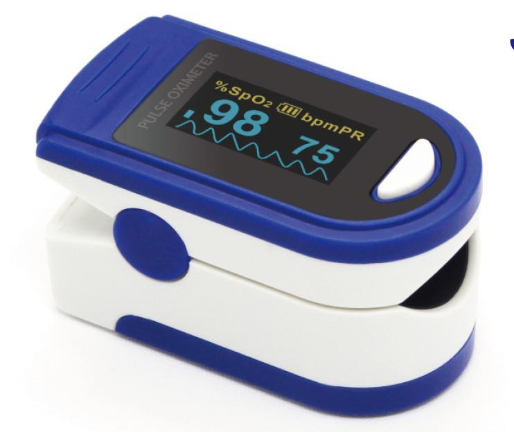 Ce and FDA Certified OLED Fingertip Pulse Oximeter with Alarm