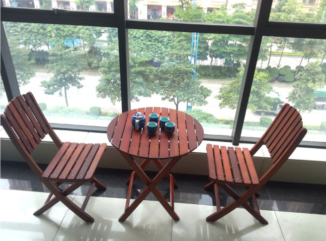 Outdoor Coffee Table and Chairs Folded Table and Chairs Garden Set (M-X1051)