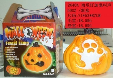 Halloween Pumpkin with White Ghost with Sound (TV596)