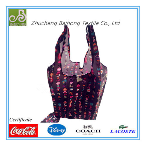 Folding Oxford with Coating Ripstop Shopping Bag