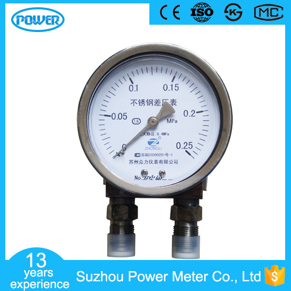 4inch-100mm All Stainless Steel Case Low Static Pressure Differential Pressure Gauge