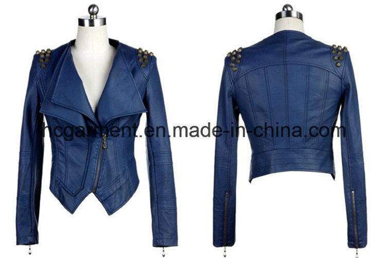 Fashion Punk PU Coat for Lady/Women, Leather Jacket