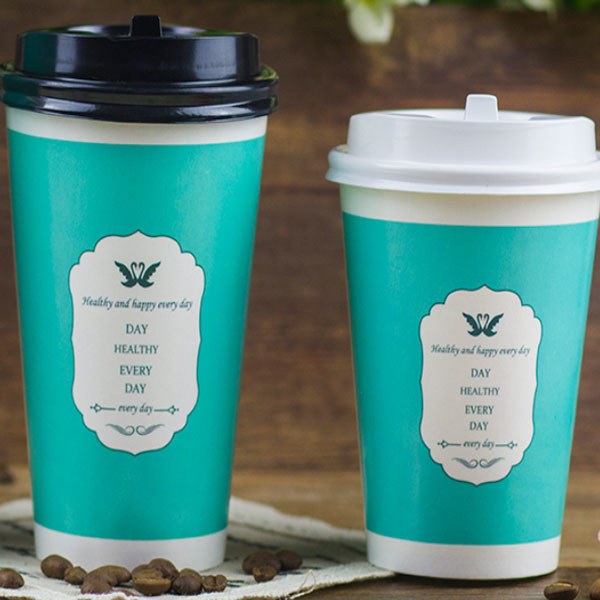 China 120 Oz Green Disposable Cups Milk Tea Cups with Lids