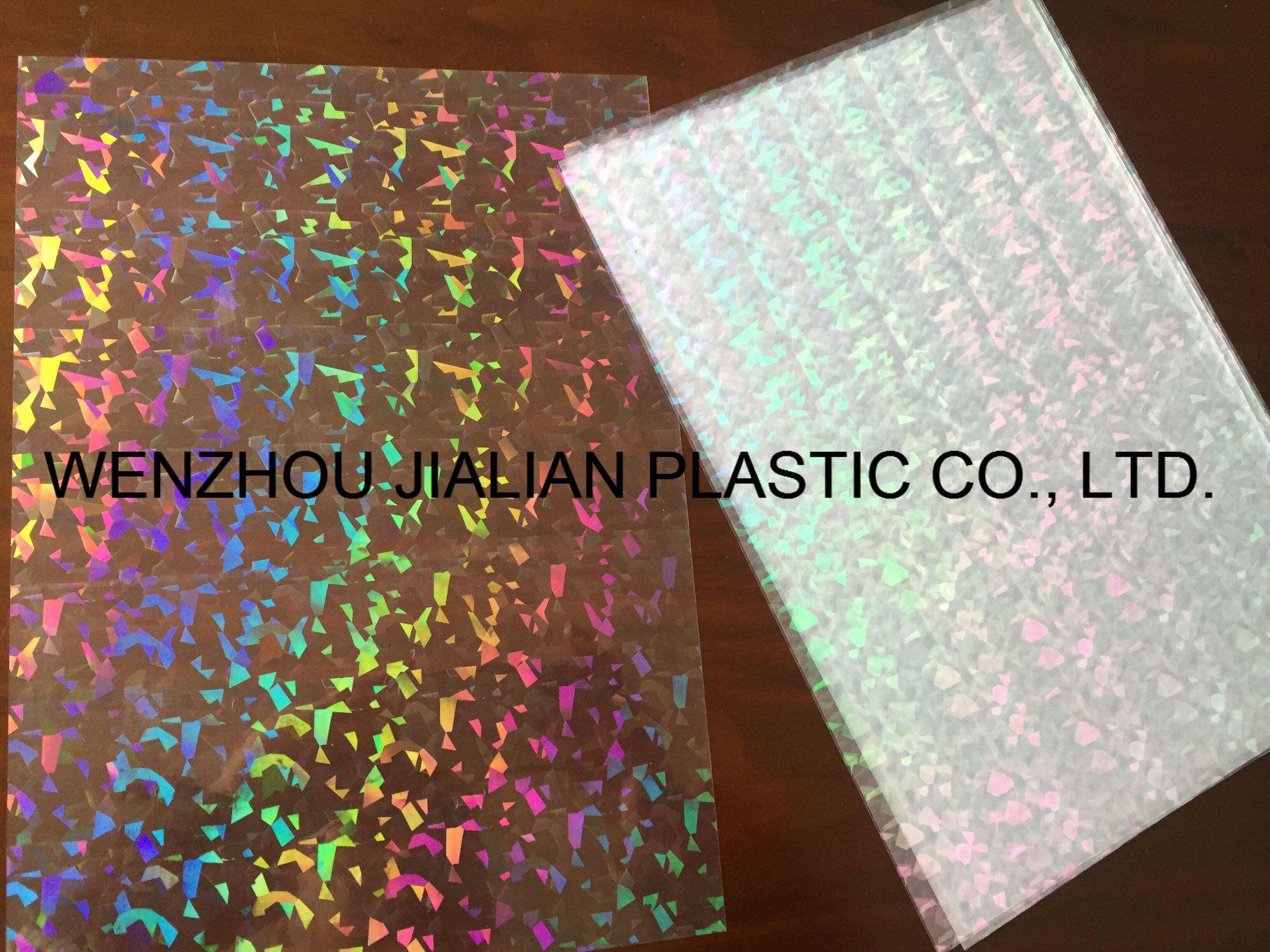 Rigid Transparent Holographic/Laser PVC Film for Christmas Decorations