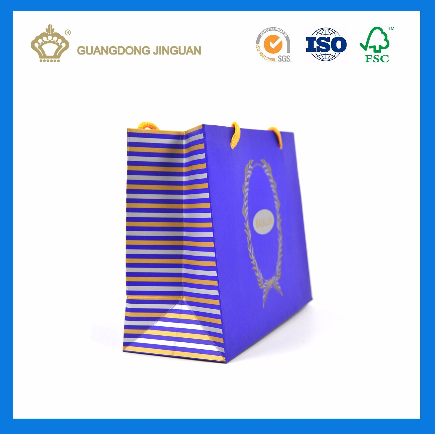 Custom Brand Printed Paper Gift Bag (With gold hot stamping)