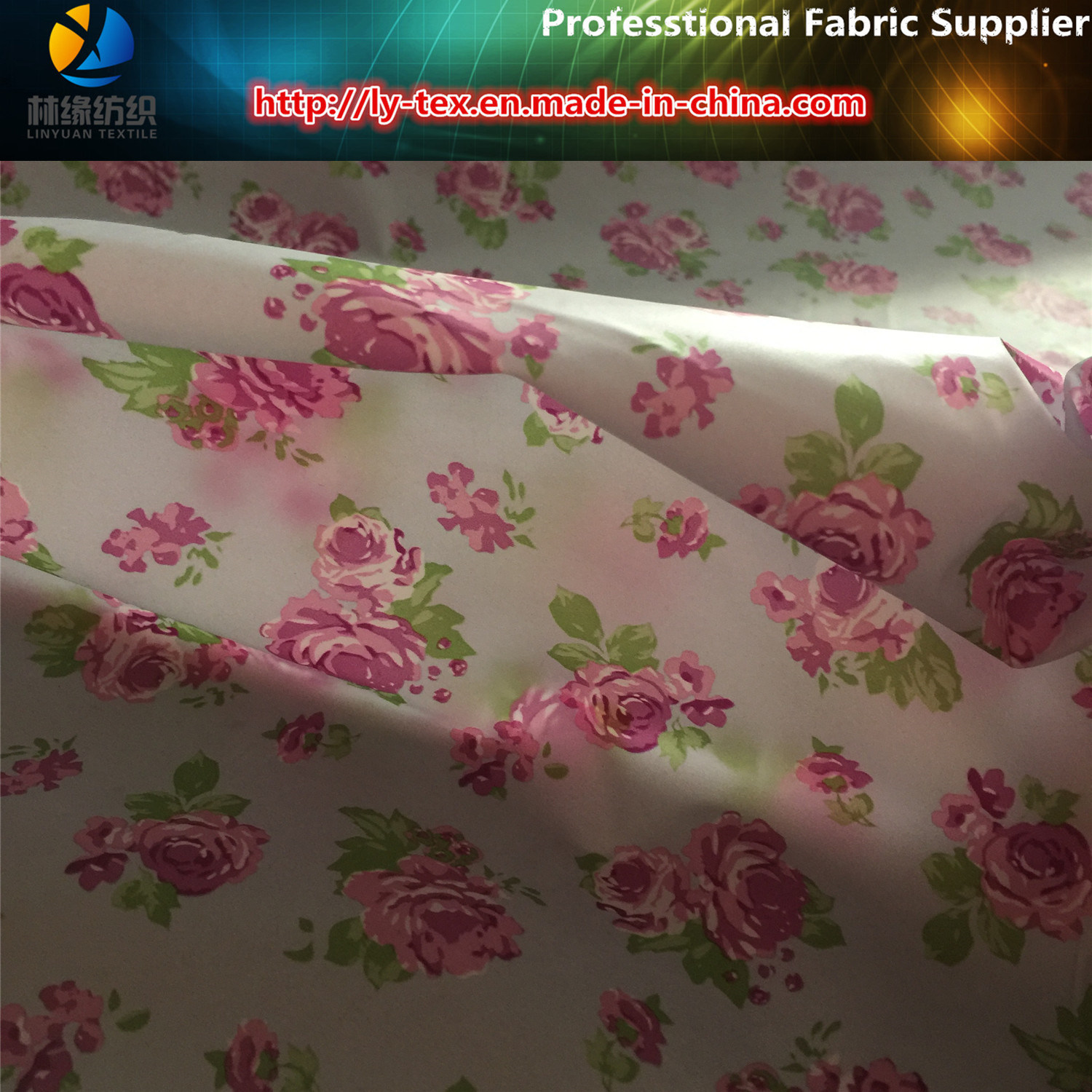 Lightest Soft 400t Polyester Taffeta Printed Woven Fabric for Down Jacket