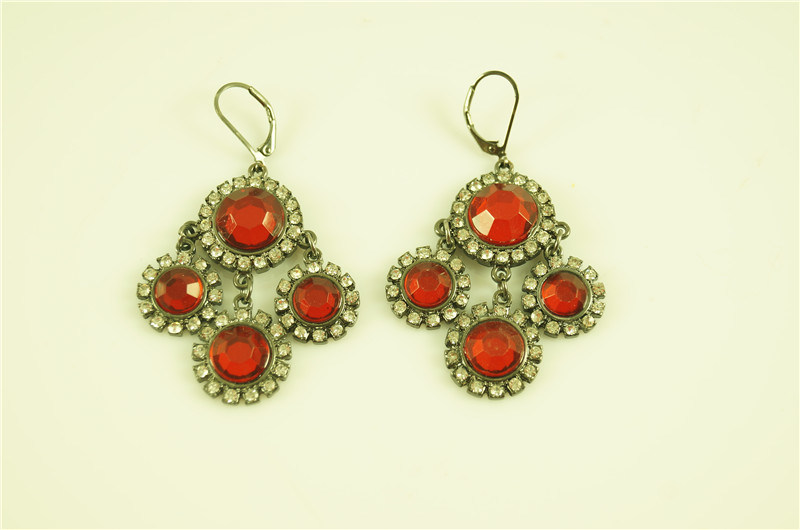 Acrylic Flower with French Wire Earring