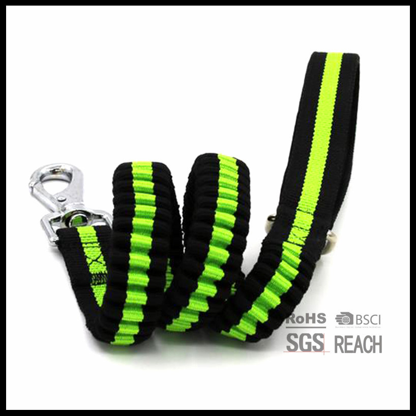 Elastic Extendable Retractable Leather Pet Dog Shock Leash Leads Supply Products