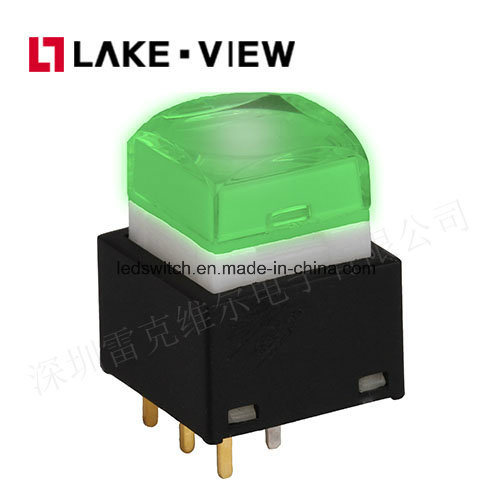 Lead Free 500mA 25V DC LED Illuminated Pushbutton Switch