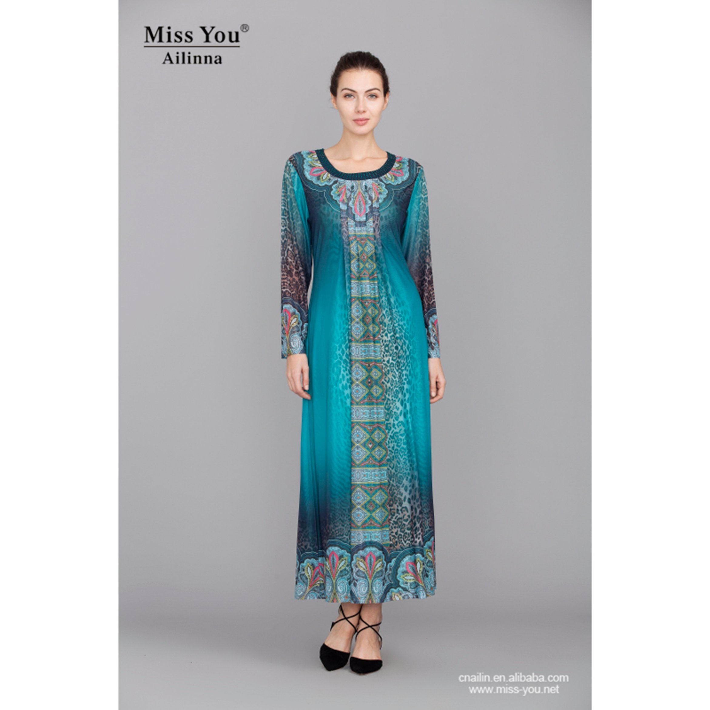 Miss You Ailinna 300631-2 Ladies Fashion Abaya Soft Indian Muslim Dress Distributor