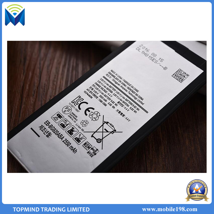 2550mAh Battery for Samsung Galaxy S6 G9200 G920f G9208 G925s G9209 Eb-Bg920abe