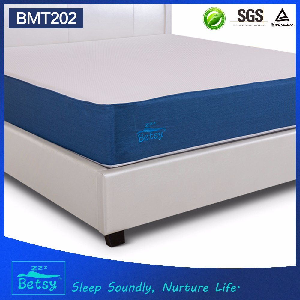 OEM Compressed Memory Foam Mattress 25cm High with Knitted Fabric Detachable Zipper Cover