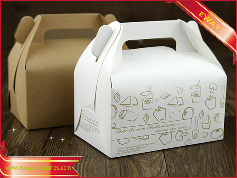 Cake Packing Box Fold Paper Box with Clear Window