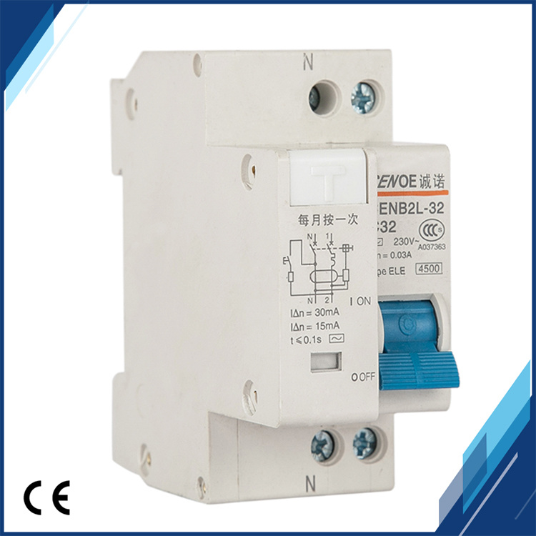 Dpnl 1p+N 32A 230V Residual Current Circuit Breaker