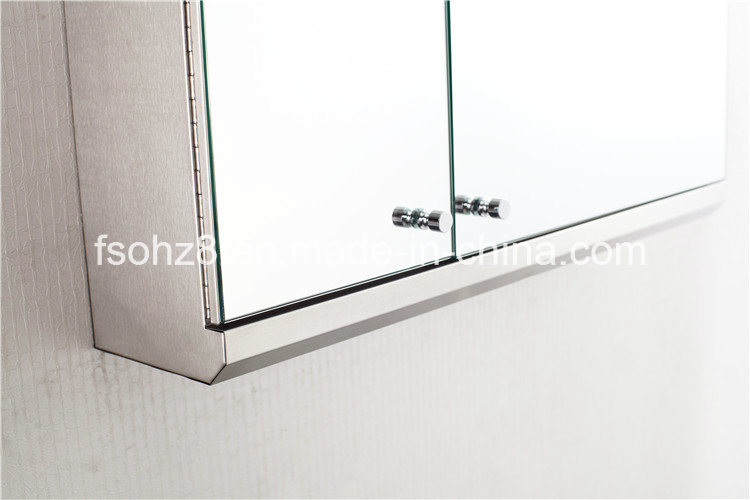 Modern Corner Stainless Steel furniture Bathroom Big Storage Cabinet (7068)