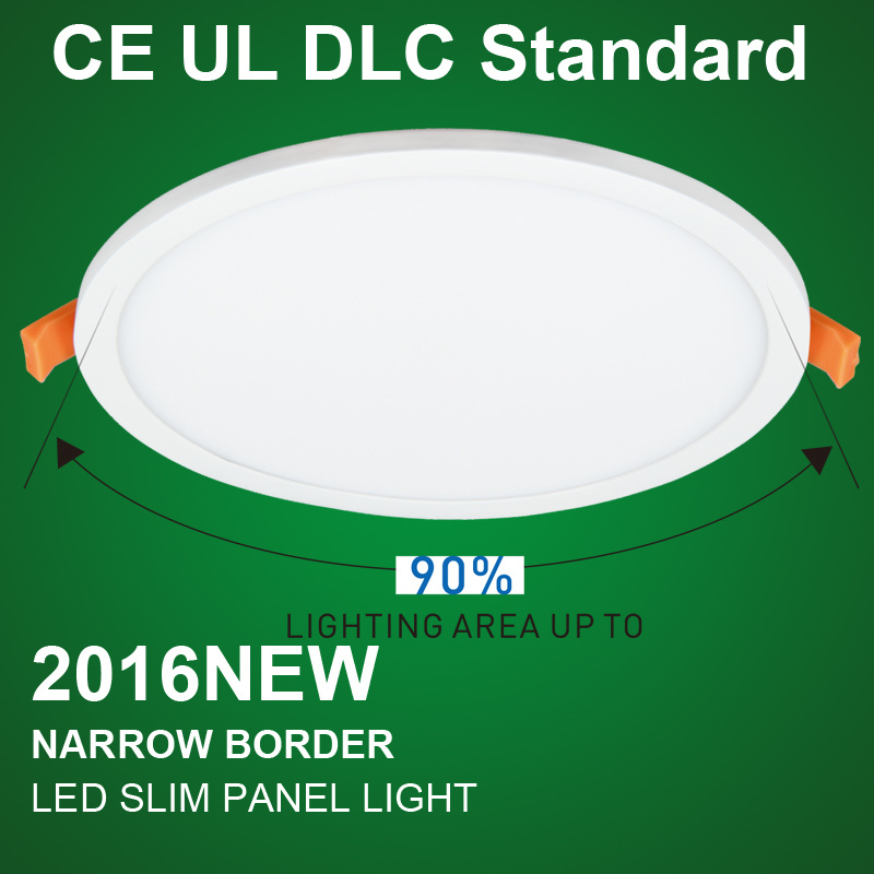 Bis Ultra Slim LED Panel Light with Round Housing