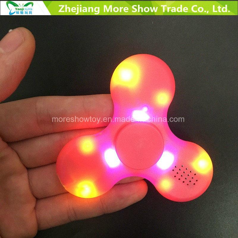 LED Bluetooth Speaker Music Fidget Spinner EDC Hand Spinne Kids/Adult Funny Toy
