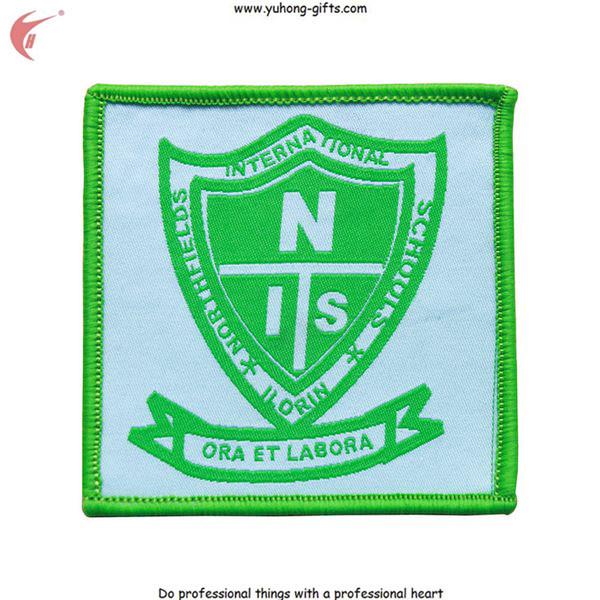 2015 New School Woven Patch Badge for School Uniform (YH-WB111)