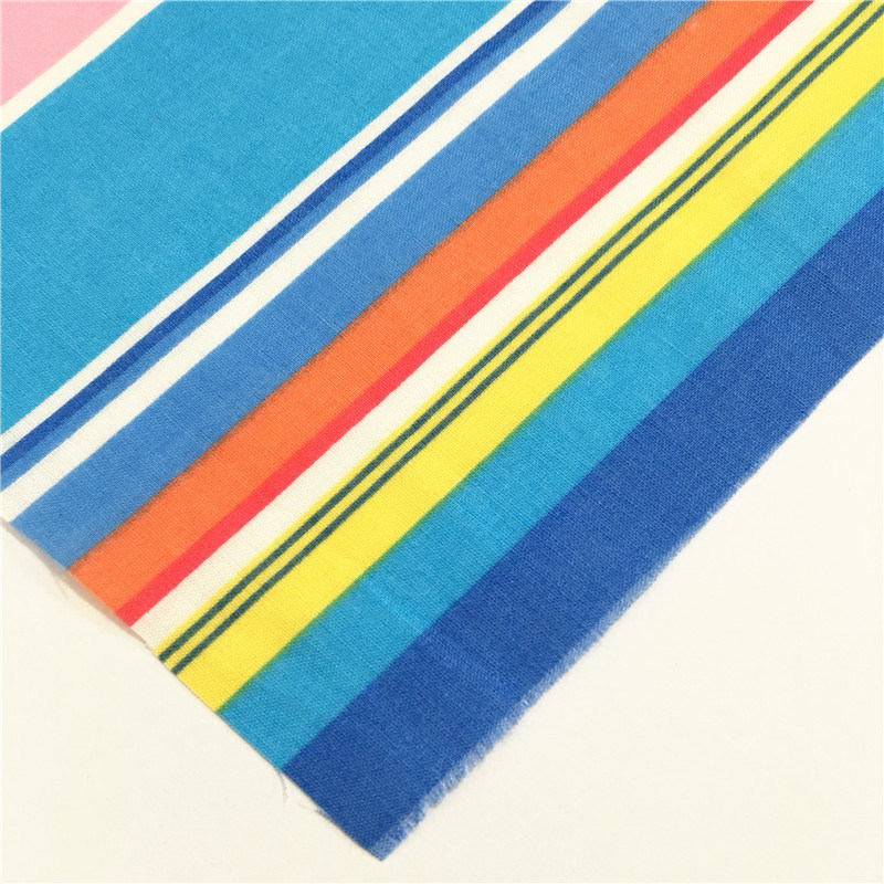 Polyester Cotton Colorful T/C Terry Rayon Tr Strip Fabric for Bed Sheet