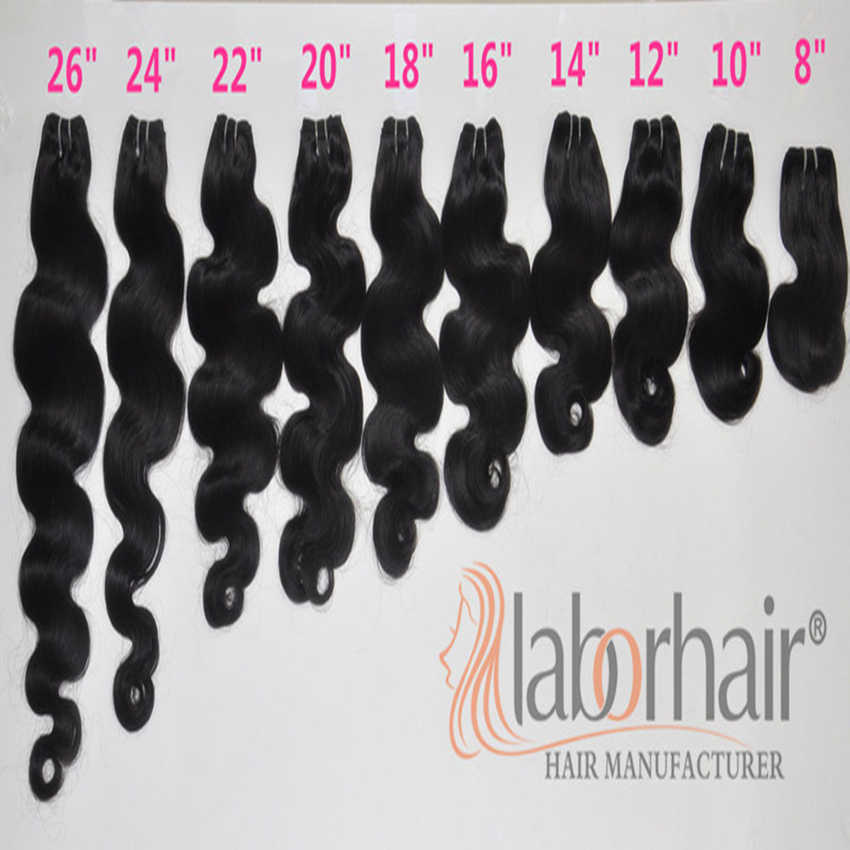 Labor Hair Products Brazilian Body Wave Hair Extension, 8A Brazilian Virgin Hair Tangle Free Human Hair Weave Bundles