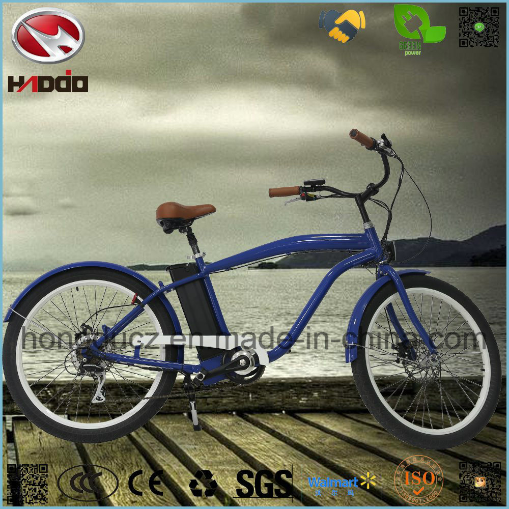 Man Beach Cruiser E-Bike Alloy Frame Suspension Scooter for Sale