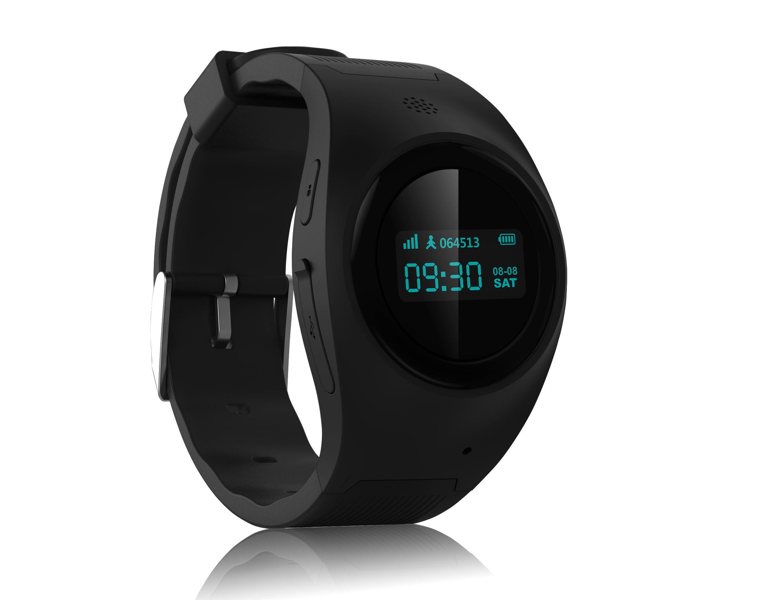 Best Quality Small Black GPS Kids Tracker Watch