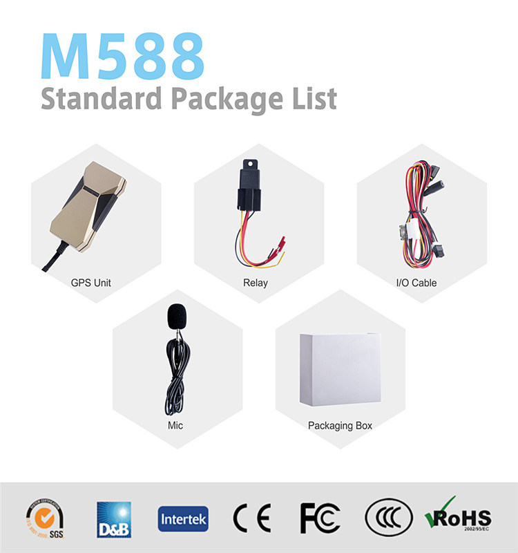 Vehicle GPS Tracking System for Truck/Bus/Car GPS Car Tracker M588