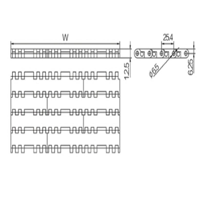 Flat Top Modular Belts (WZ-2540C)