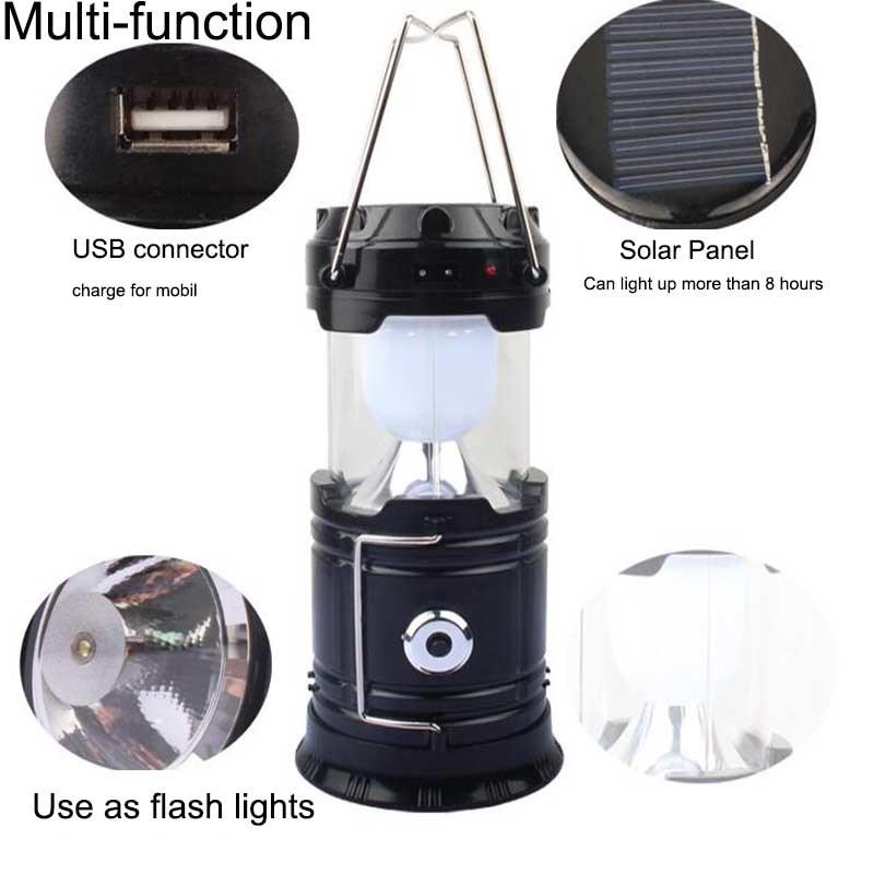 5W Multifunctional Solar LED Camping Light