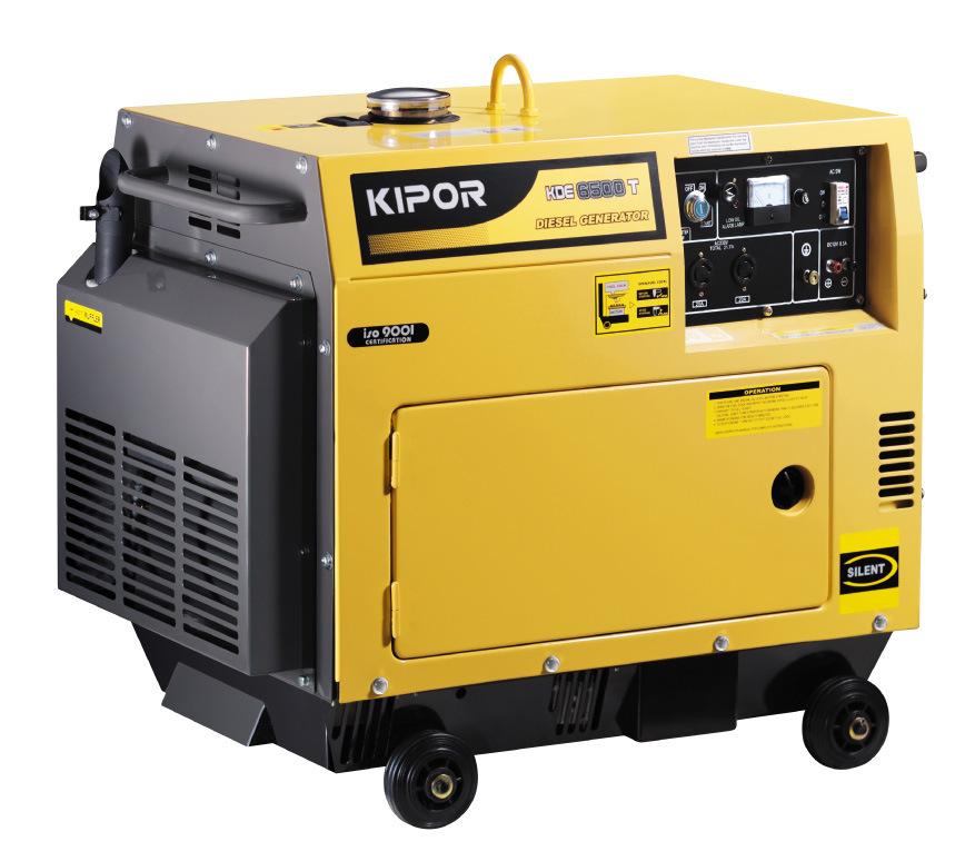 Kipor 5kw Silent Diesel Portable Generator Kde6500T/T3 with AVR