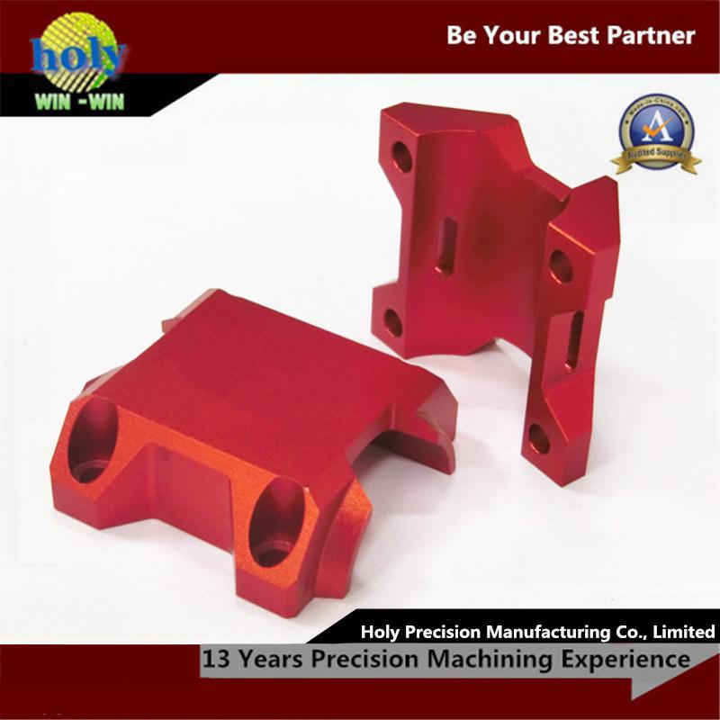 Custom Bicycle Stem CNC Aluminum Parts Red Anodizing CNC Milling Parts