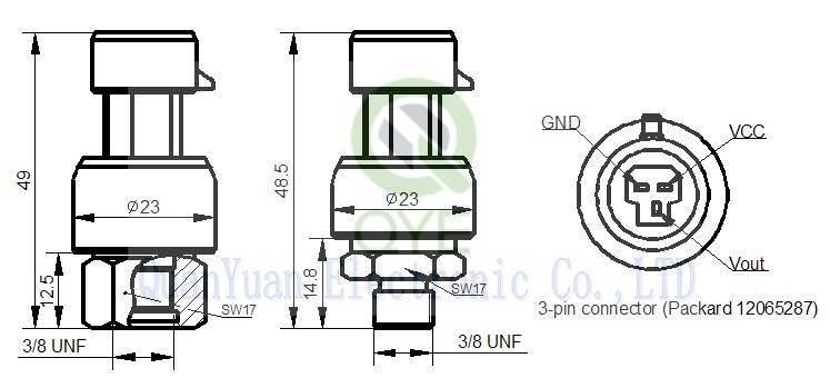 High Performance Piezo 316L Ss Pressure Transducer/Transmitter