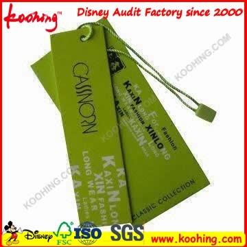 Black Hang Label Tag for Garment