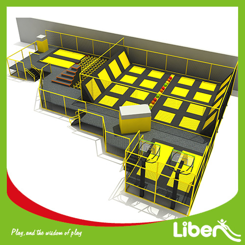 Build Indoor Trampoline Arena with Installation Team