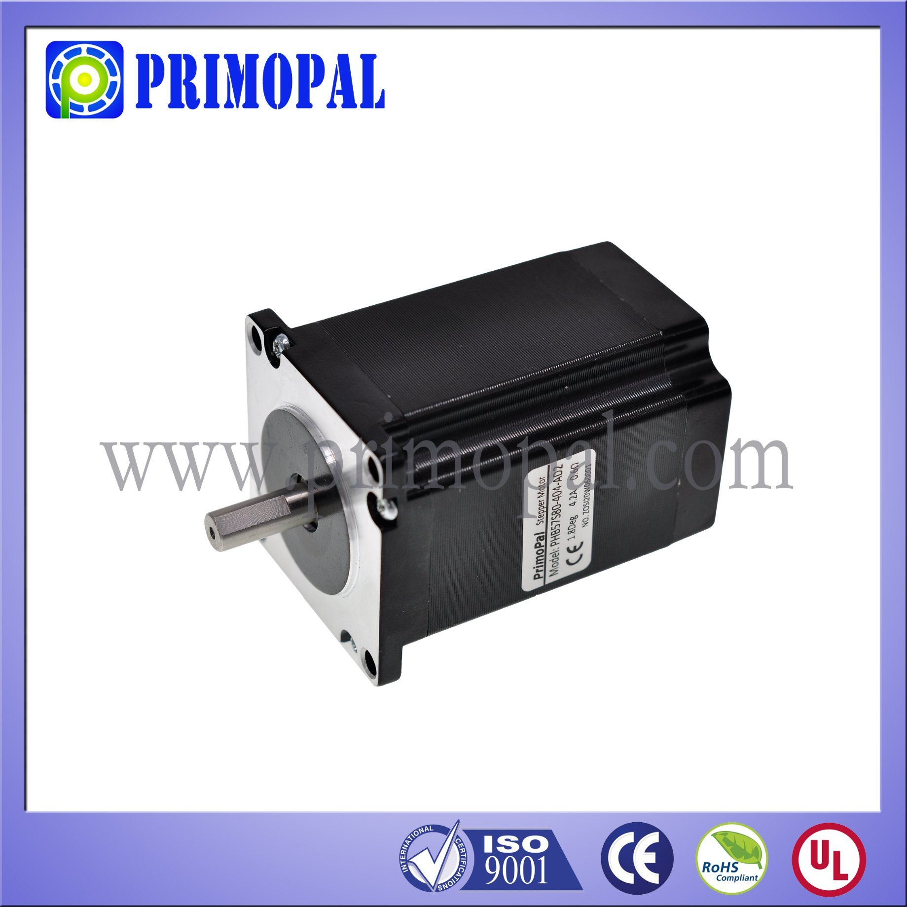 6 Leads 3 Phase NEMA 23 Stepper Motor for CNC Routers