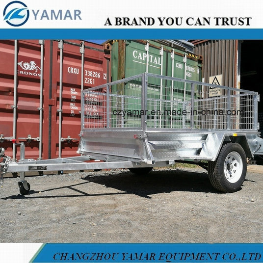 Single Axle Box Trailer with Cage