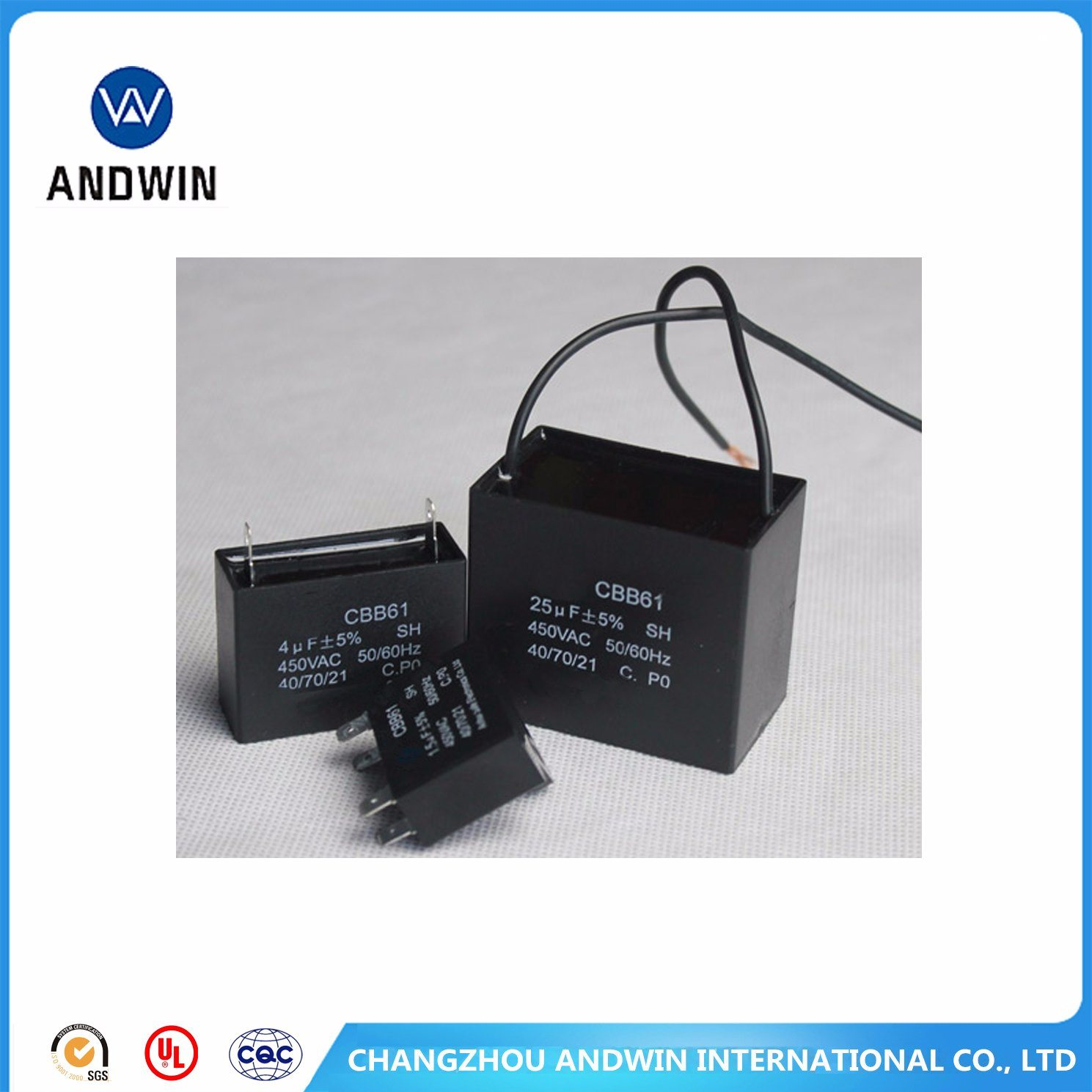 Cbb61 Run Capacitor for AC Fan Motors