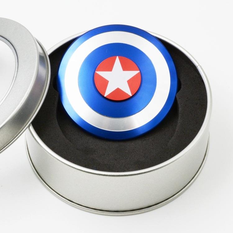 Round Captain America Finger Gyroscope Spinner Fidget Hand Spinner