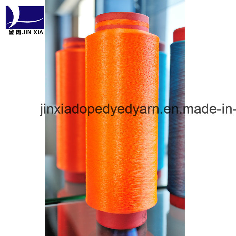 Dope Dyed Polyester Yarn DTY 150d/144f Micro Filament