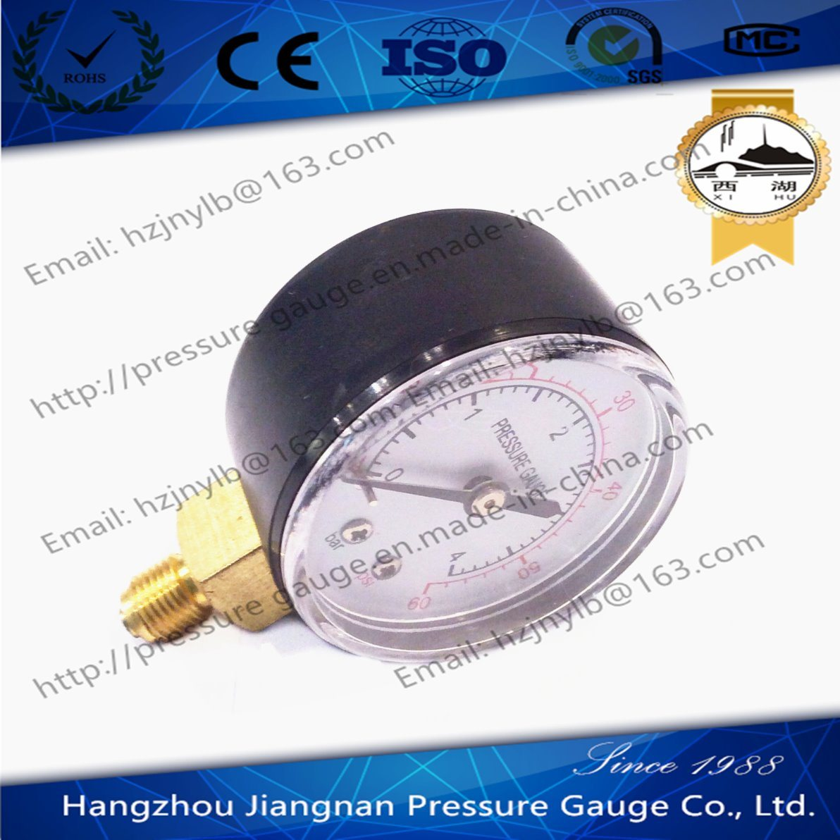 50mm 2′′ Solid General Pressure Gauge