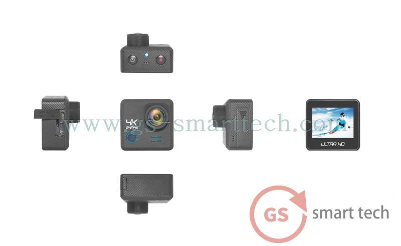 Gyro Anti Shake Function Ultra HD 4k Sport DV 2.0′ Ltps LCD WiFi Sport DV Underwater Camera