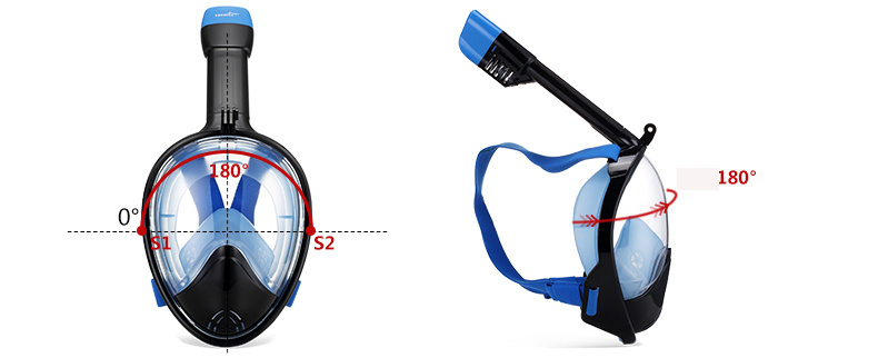 Full Face Scuba Diving Masks Snorkeling Swimming Equipment Underwater Sport
