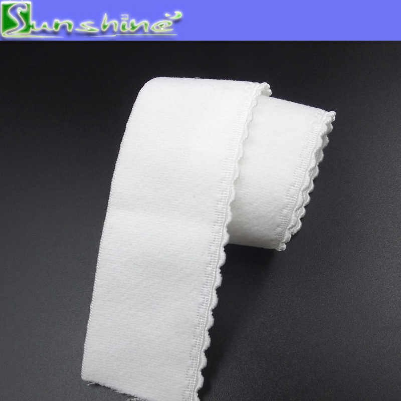 20mm White Underwear Picot Elastic Webbing in Stock