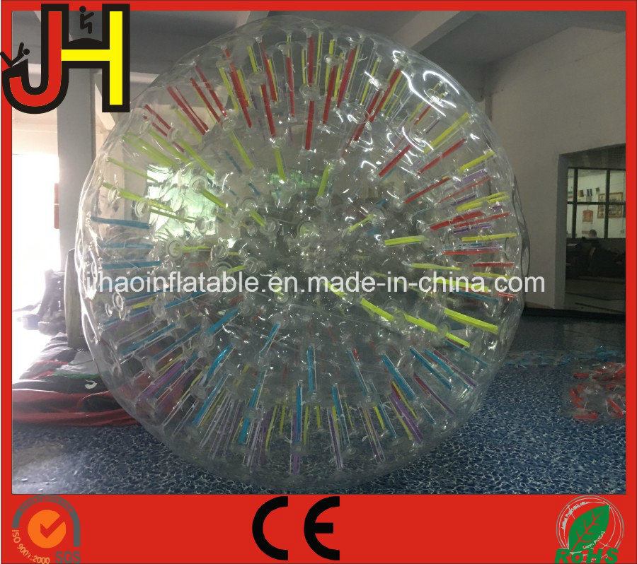 Cheap Inflatable Glowing Zorb Ball with LED Light