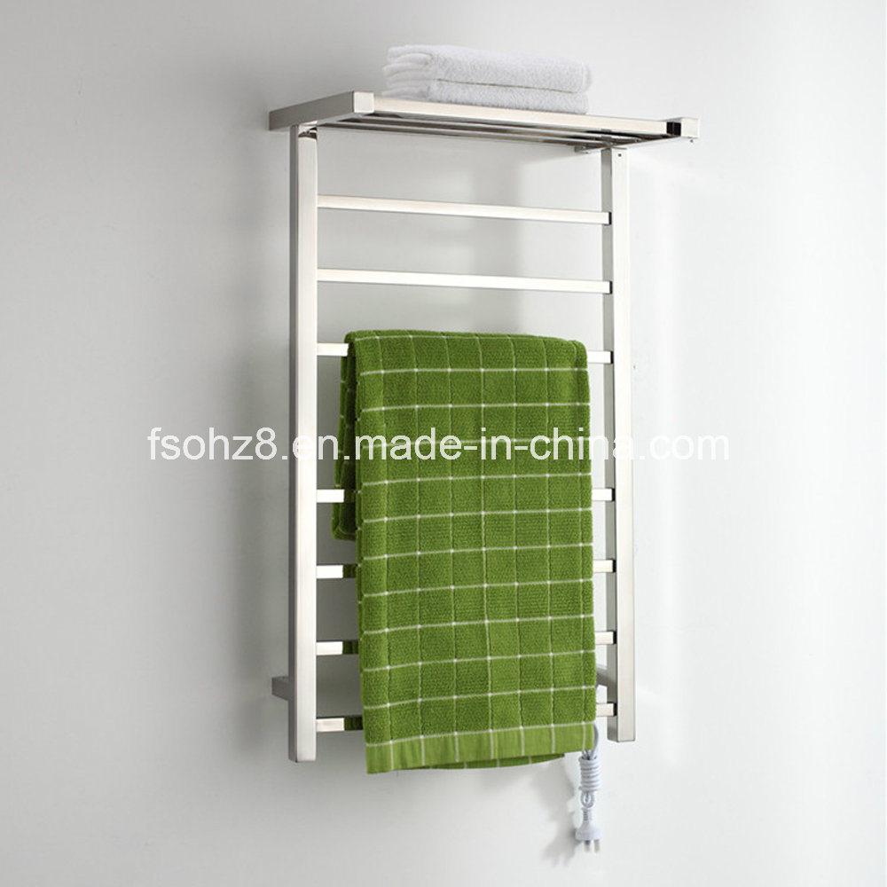 Stainless Steel Towel Ladder Bathroom Radiator in Square Design
